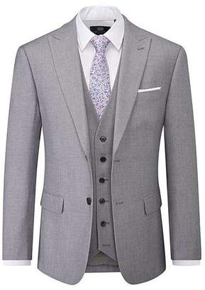 Skopes - Kelham - Silver - Twees - Effect - Peak - Lapel 3 Piece Suit