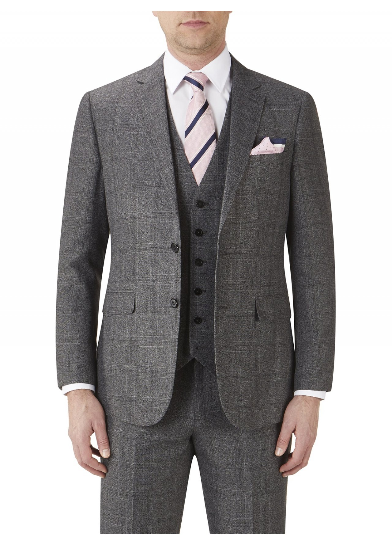 Skopes - Theodore - Grey Heritage - Tweed - Check - 3 Piece Suit