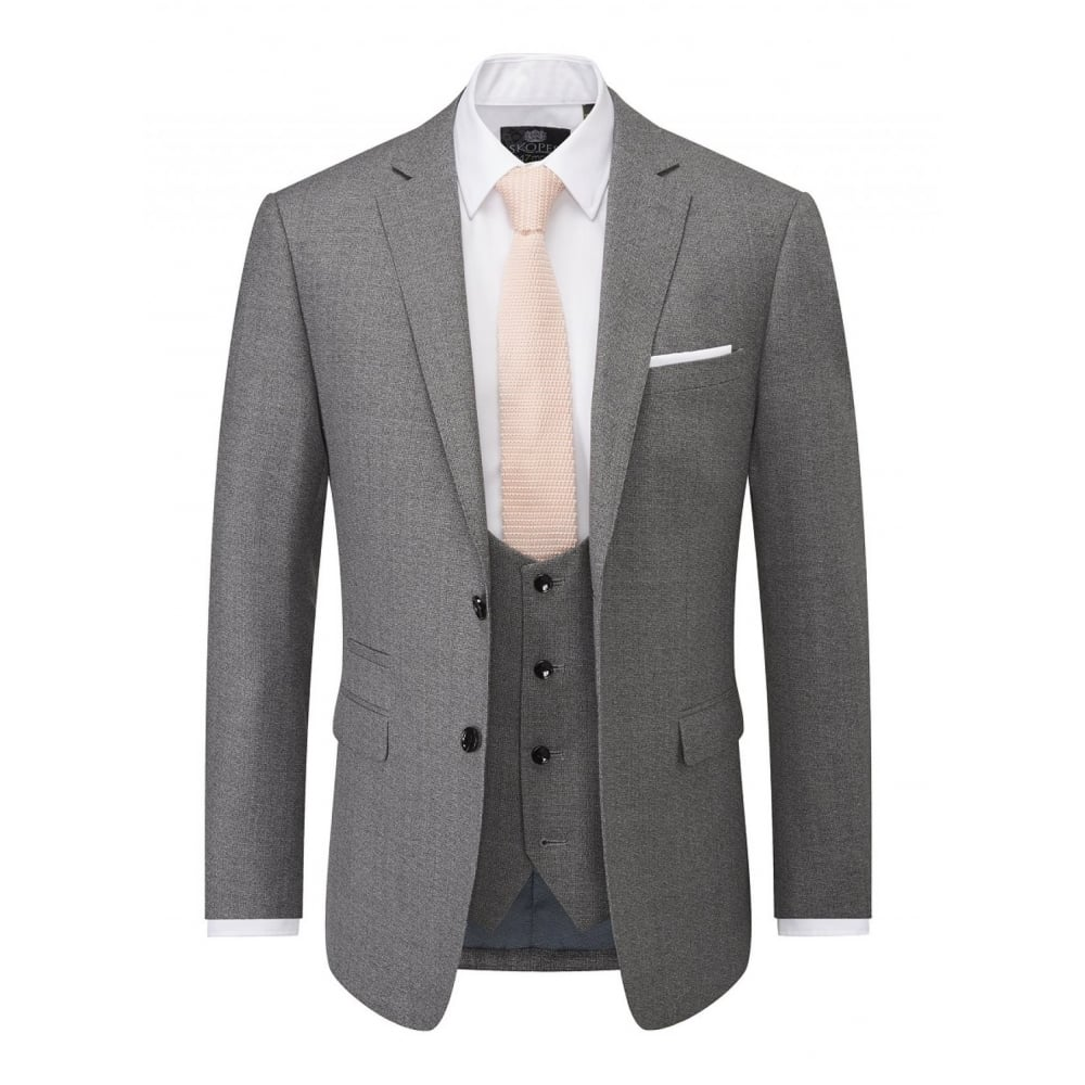 Skopes - Whitman - Grey - Textured - 3 Piece - Suit