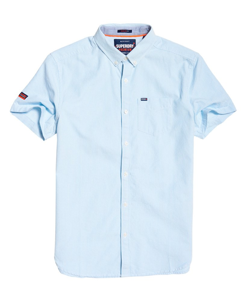 Superdry-Premium-Universty-Oxford-S\S-Alban-Ticking-Blue