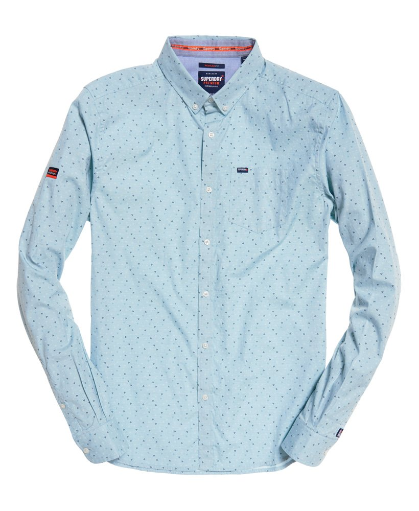 Superdry Premium Shoreditch Shirt Bermuda Blue Triangle