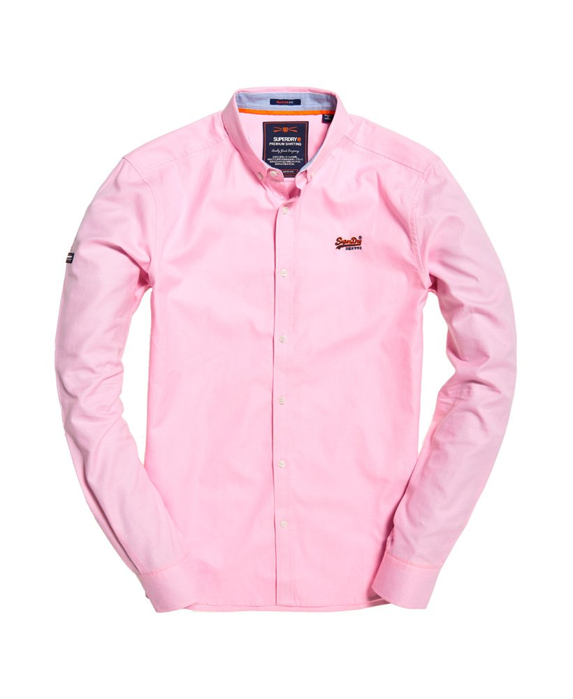 Superdry | Premium Button Down Emb Shirt Royal Oxford Pink