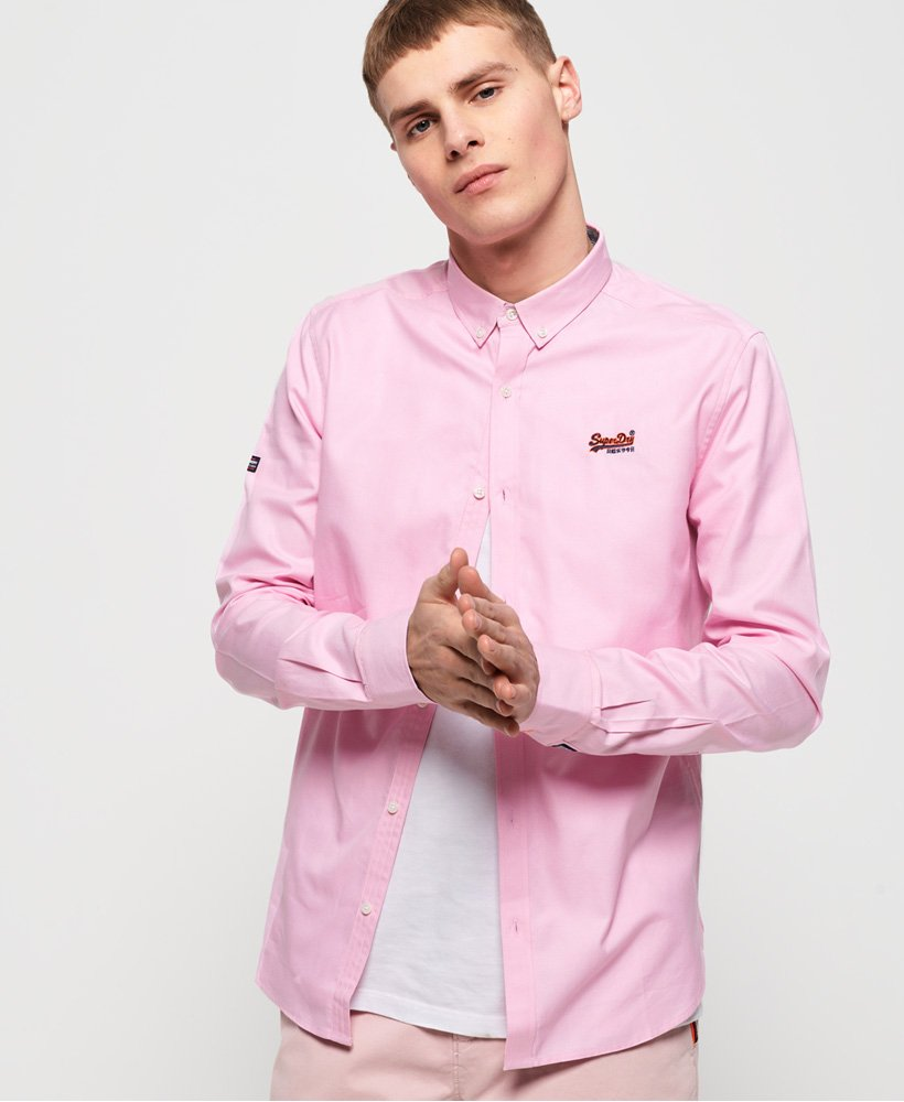 Superdry Premium Button Down Emb Shirt Royal Oxford Pink