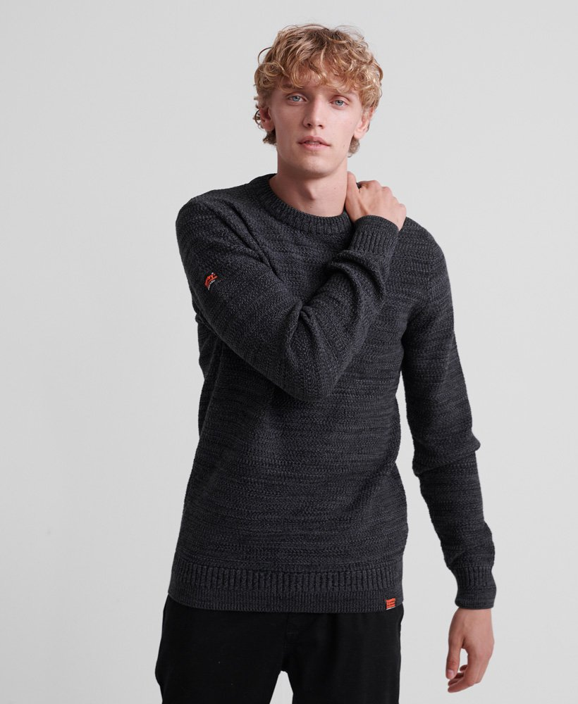 Superdry Keystone Crew - Grey Grit