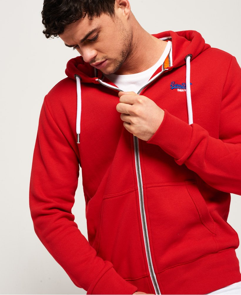 Superdry Orange Label Ziphood - Red
