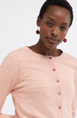 White Stuff Sketch Organic Cotton Cardi - Pink
