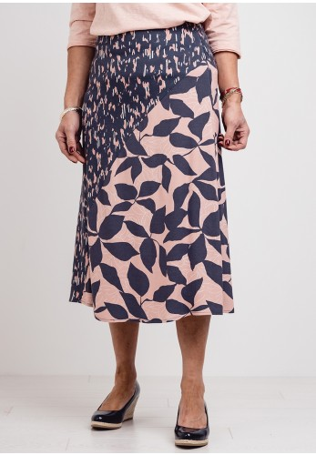 White Stuff Hidden Tiger Skirt - Grey & Pink