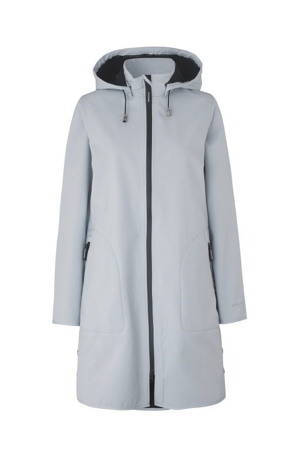 Ilse Jacobsen Rain coat 128  White Blue