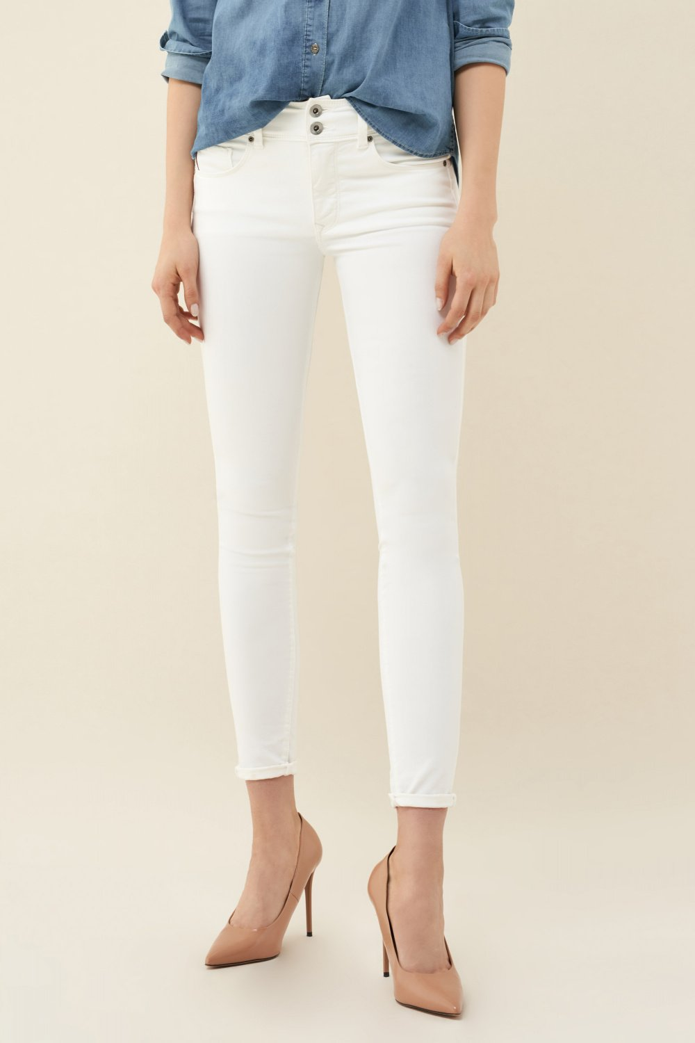 Salsa - Push In - Skinny Leg White