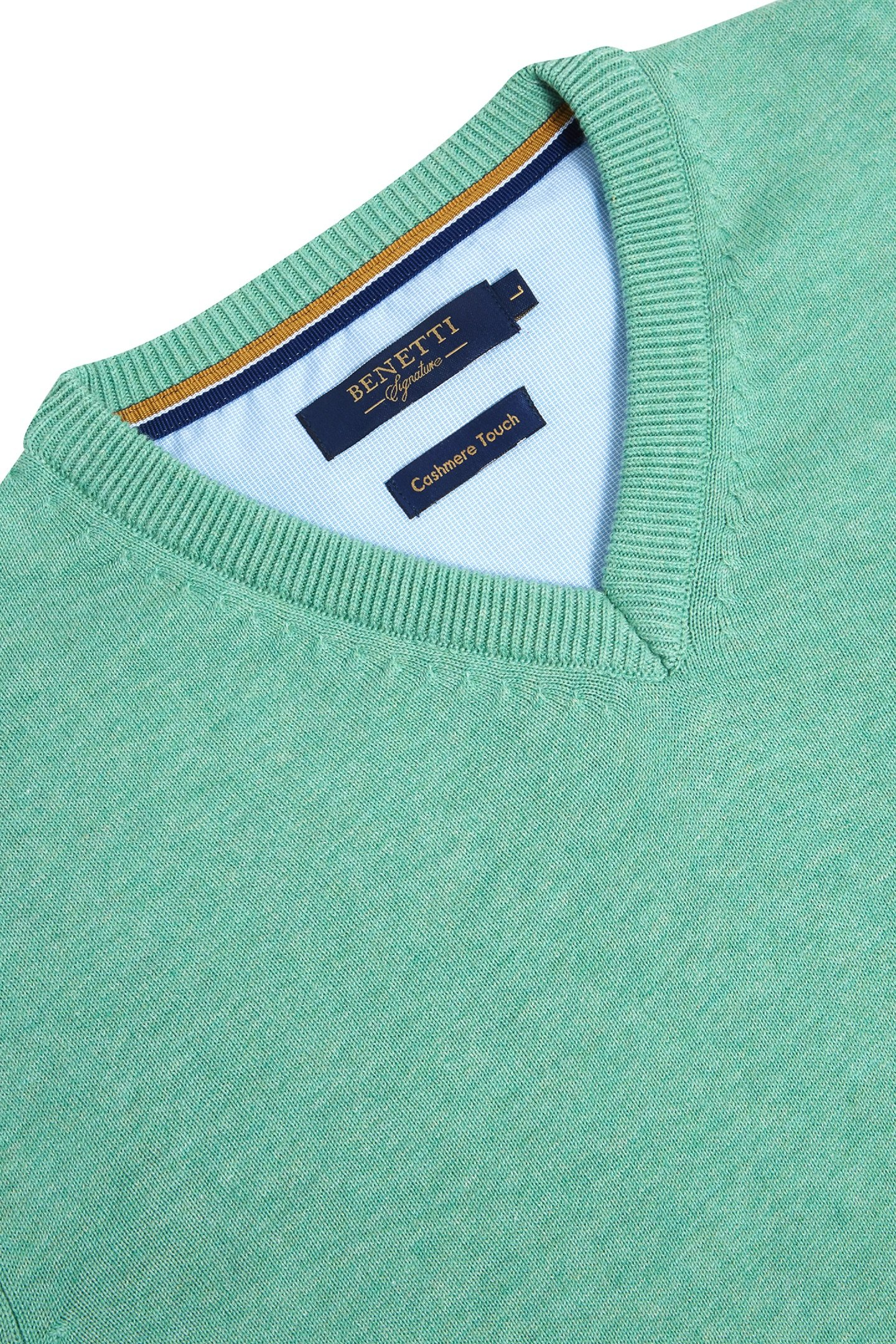 Benetti V-neck Jumper Mint