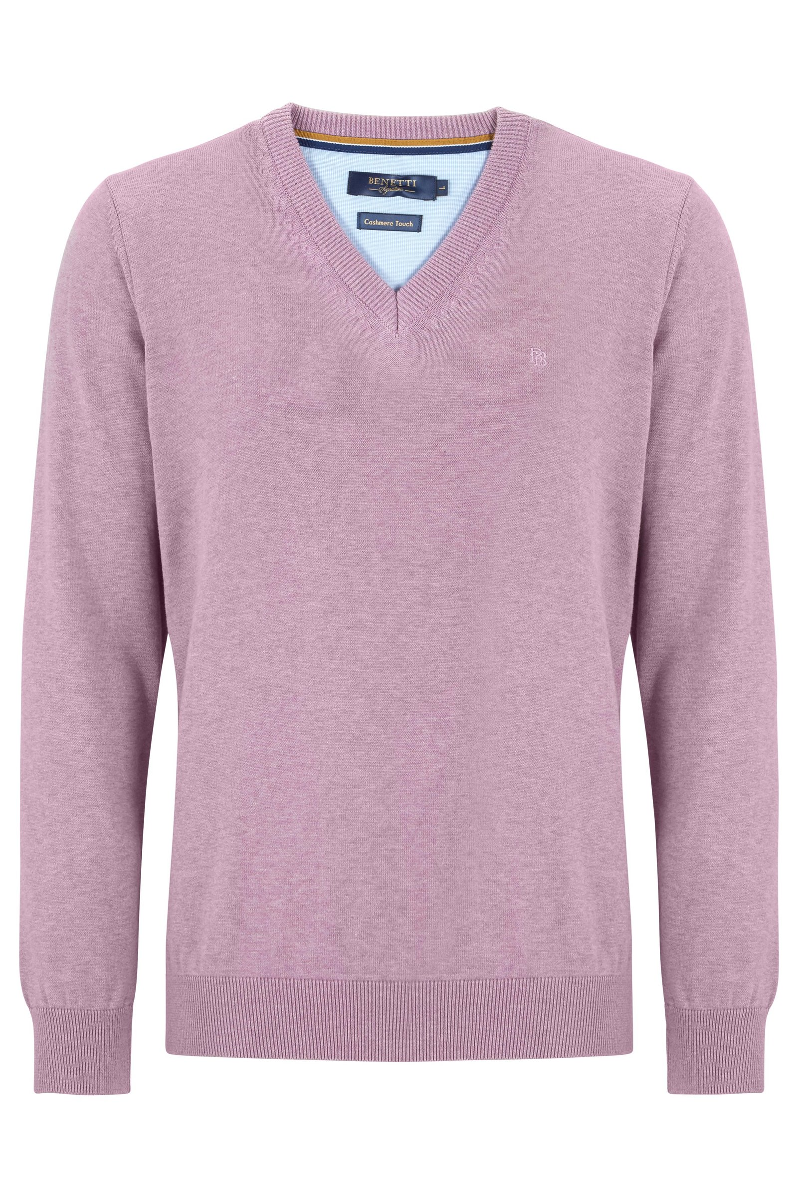 Benetti V-neck Jumper Heather