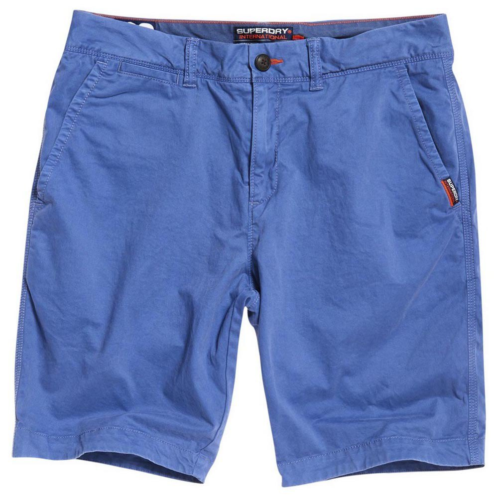 Superdry International Slim Chino Shorts - Blue