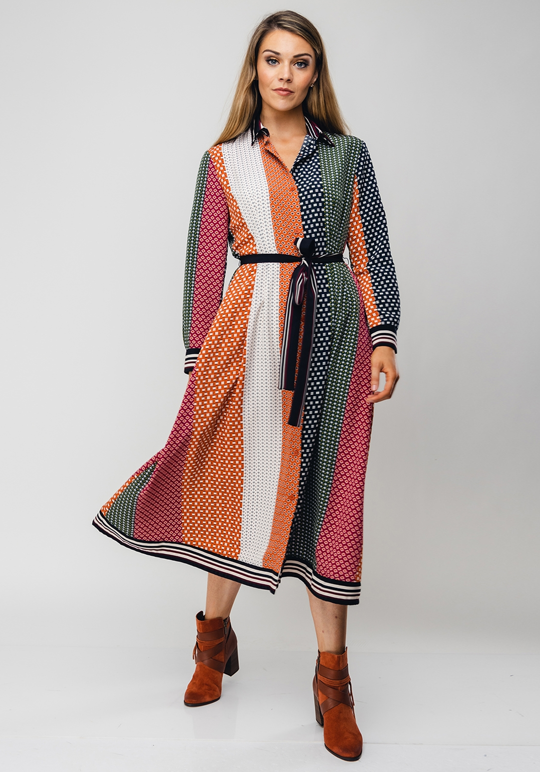 French Connection Drape Midi Dress