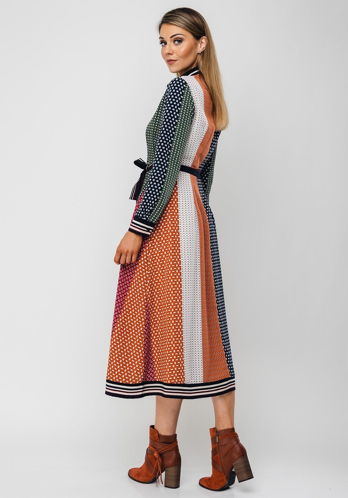 French Connection Drape Midi Dress
