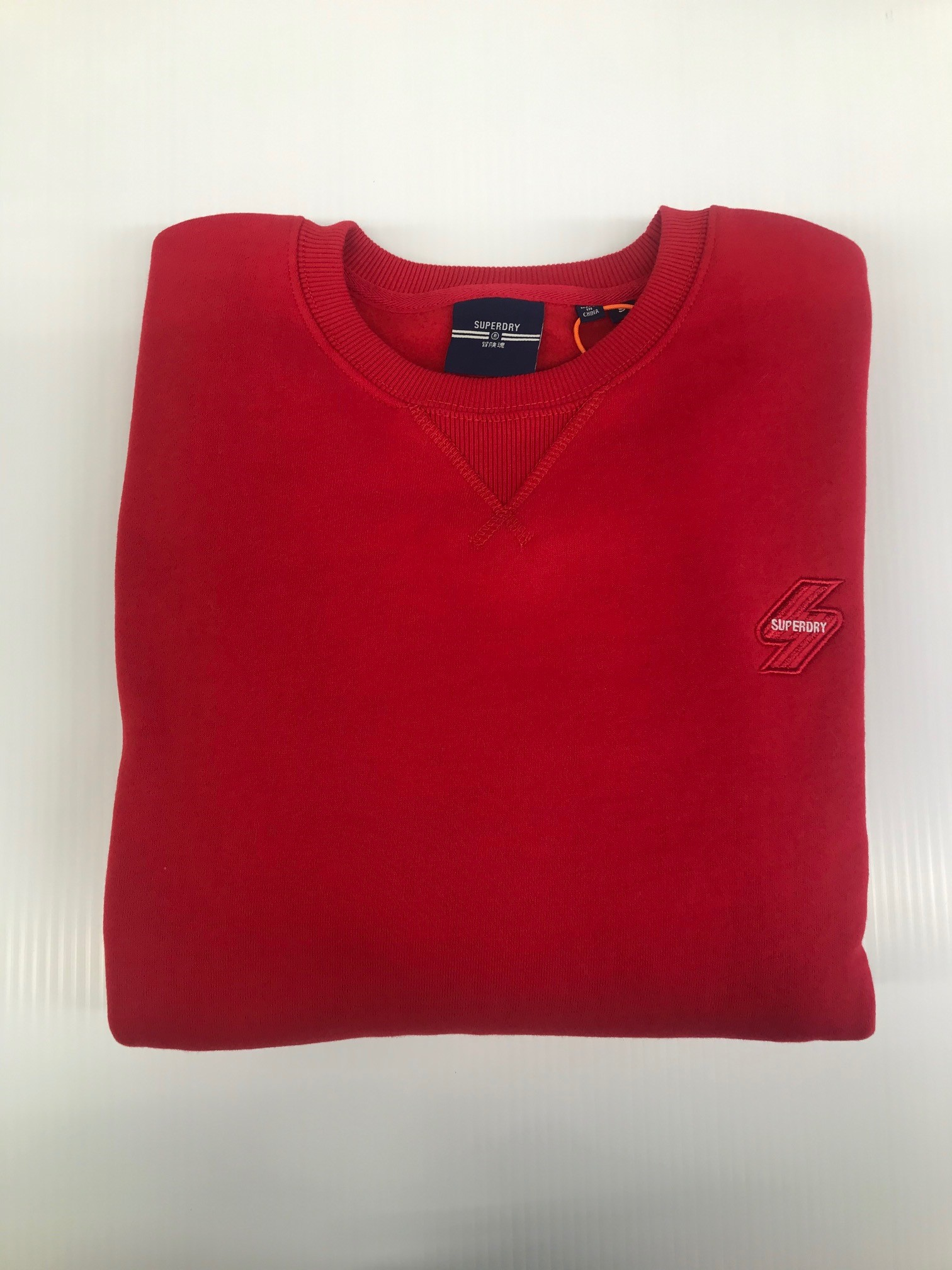 SUPERDRY | Crew Neck Jumper - Red