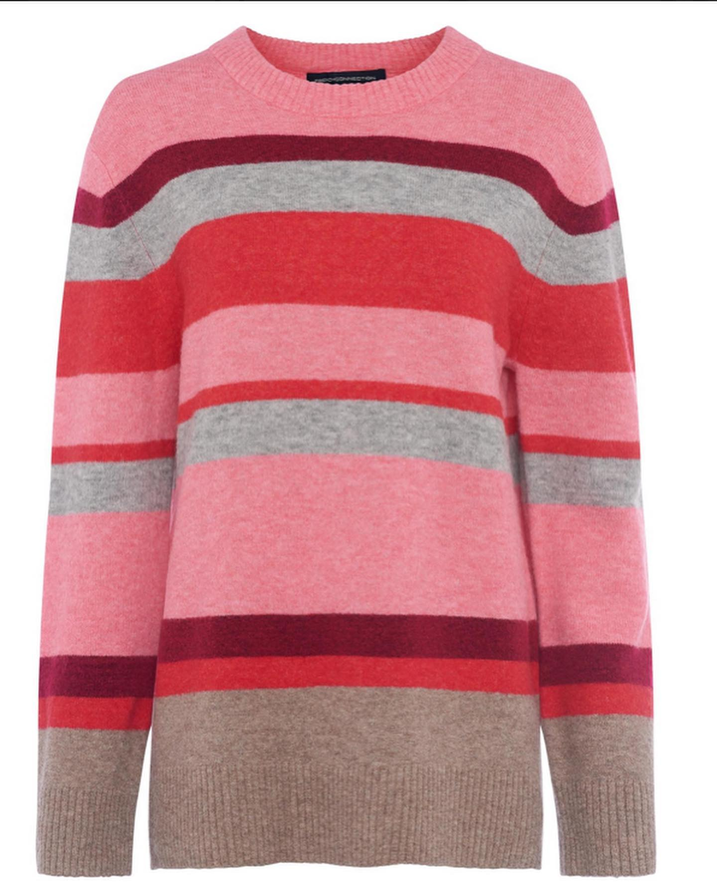 French Connection Stripe Crew Neck Jumper