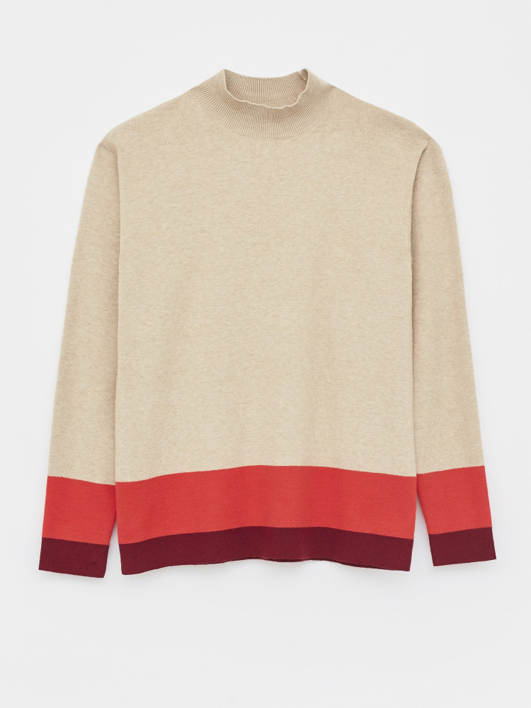 WS Tipped Funnel Neck Jumper