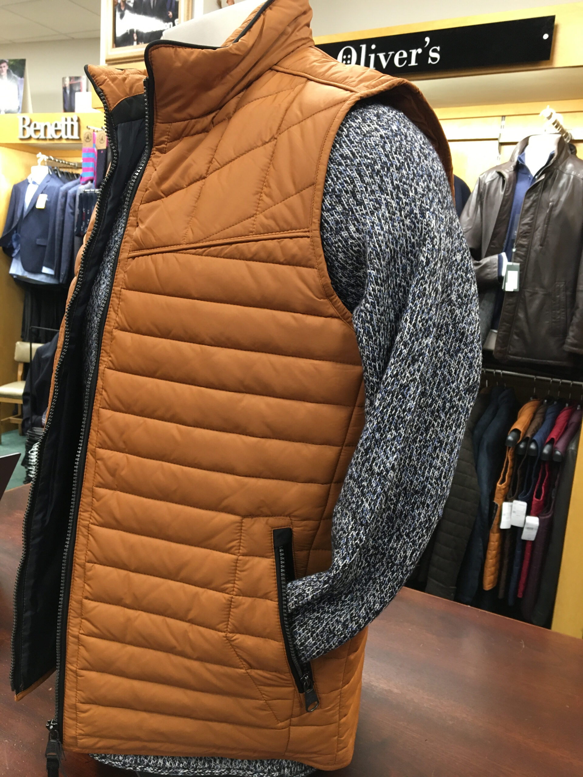 Gate One Gilet - Rust