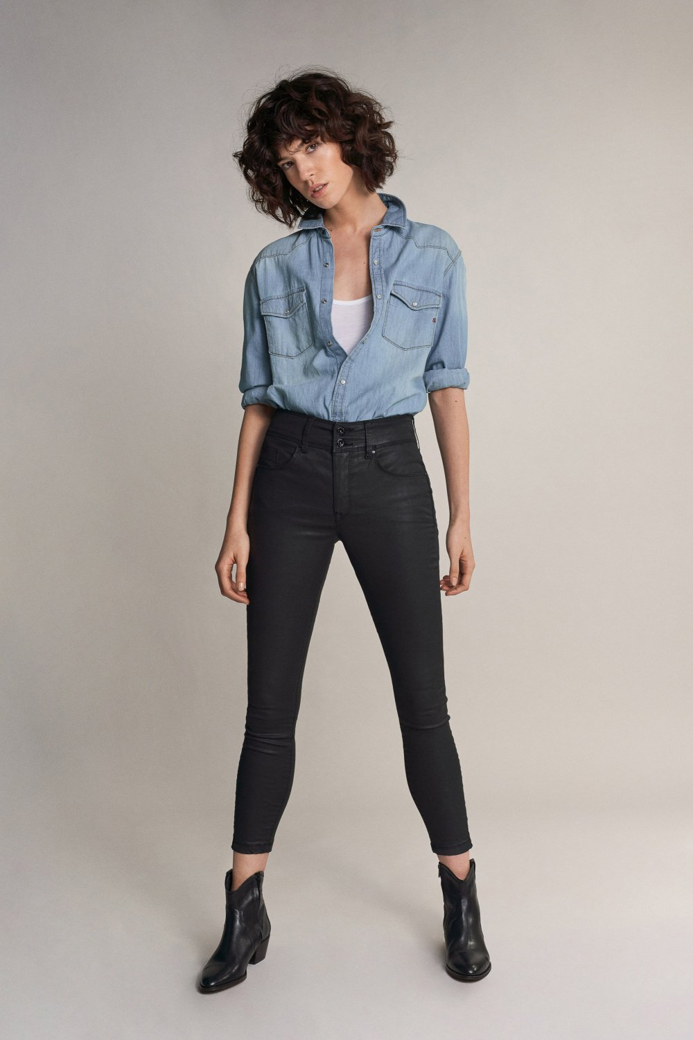 Salsa Secret Jeans in coating - Capri
