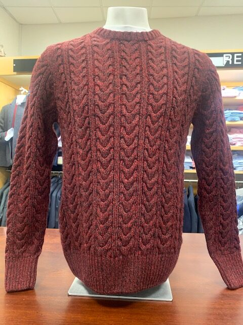Superdry Cable Knit - Bright Burgundy Twist