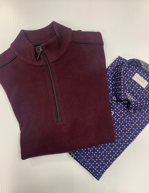 Bugetti Burgundy 1/2 ZIp Knit
