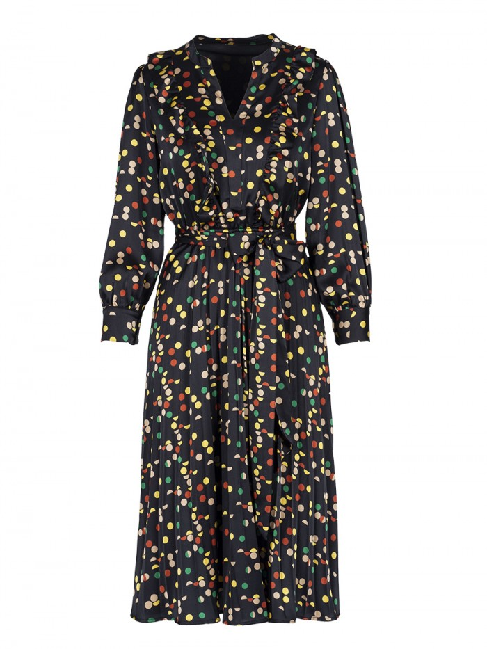 Midi Dress Confetti Print