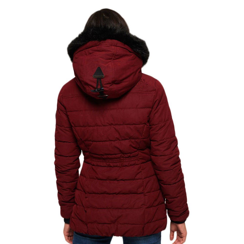 Superdry Tall Toggle Parka -Noir Berry