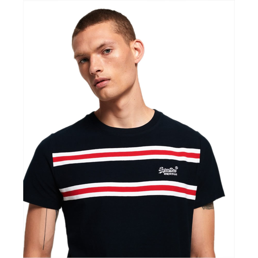 SUPERDRY | Herringbone Stripe T-Shirt