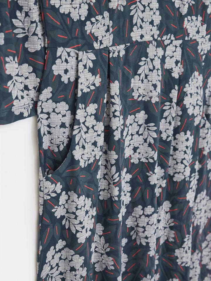 White Stuff | Aiken Eco Vero Dress | Navy