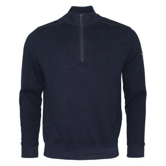 Bugatti | Sweat-Shirt Troyer | Navy |