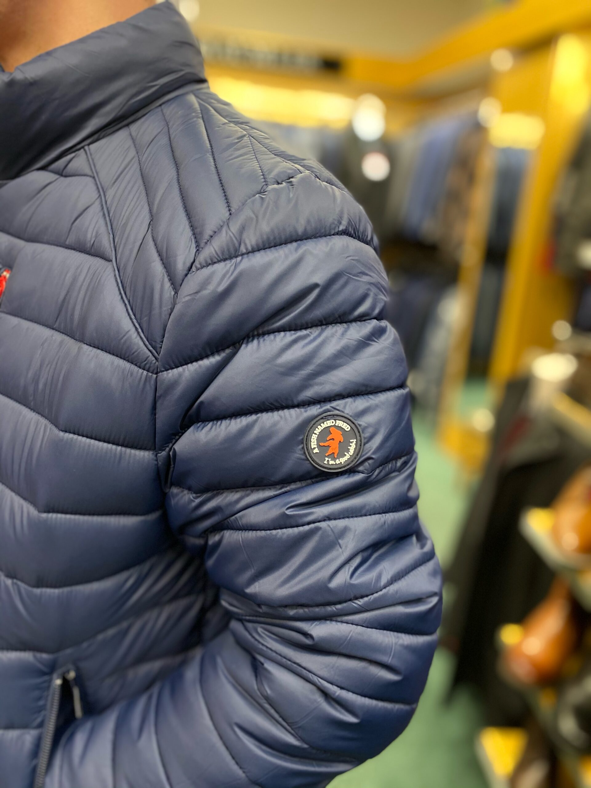 A FISH NAMED FRED | PADDED JACKET - NAVY