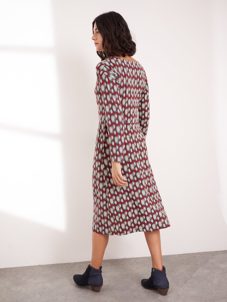 White Stuff | Aiken Eco Vero Dress | Red