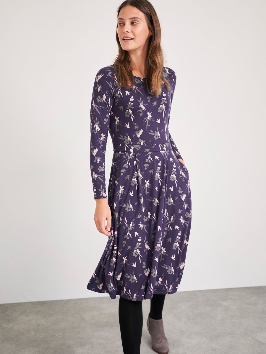 White Stuff | Elaina Eco Vero Dress | Purple