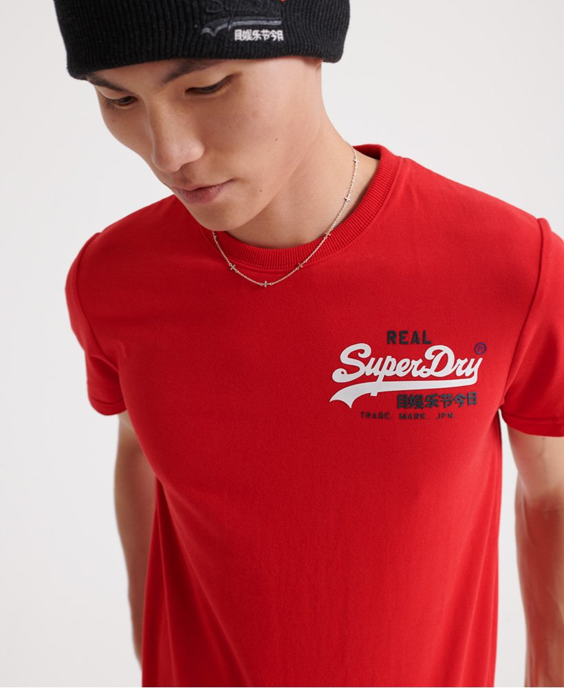 SuperDry Vintage Logo Racer T-Shirt in Rouge Red