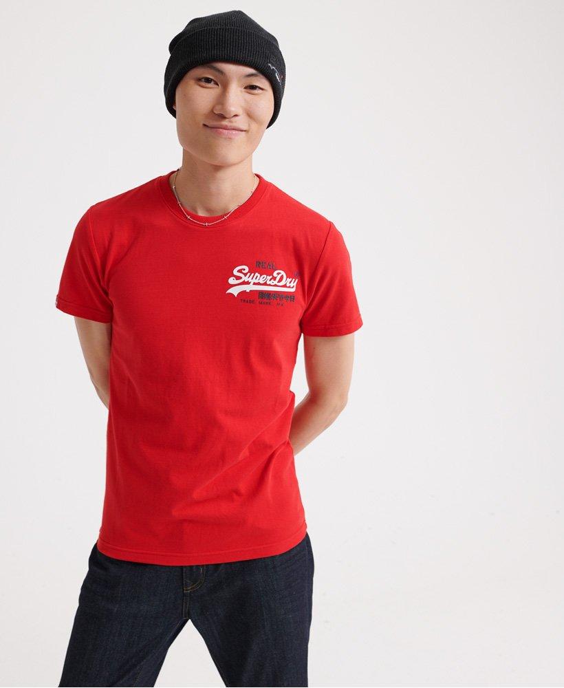 SuperDry | Vintage Logo Racer T-Shirt in Rouge Red