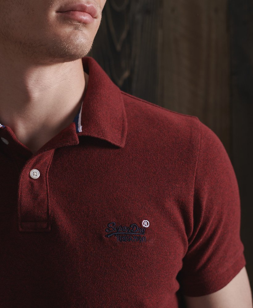SuperDry Classic Pique Polo - Rich Red Grit