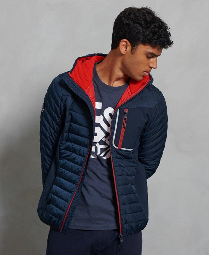 SUPERDRY | Hybrid Hooded Jacket - Navy
