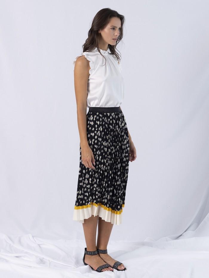 A- Monica Pleated Skirt