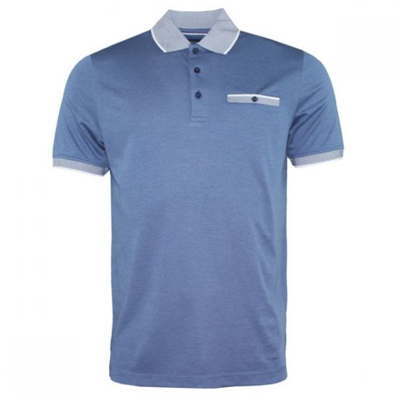 Bugatti | Pocket Short Sleeve Blue Polo Shirt