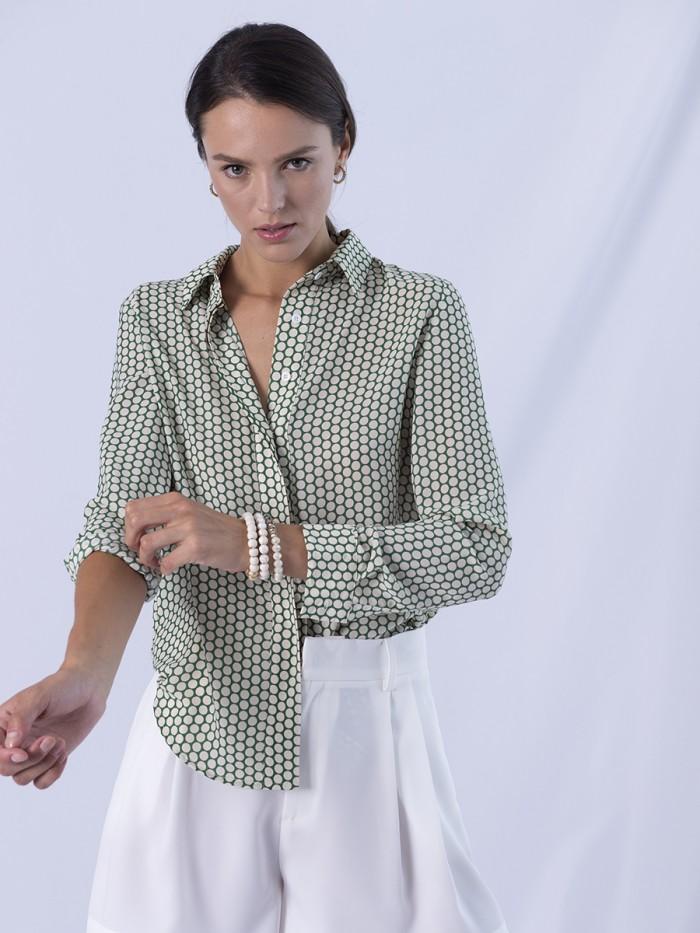 A- Green Dots Classic Shirt