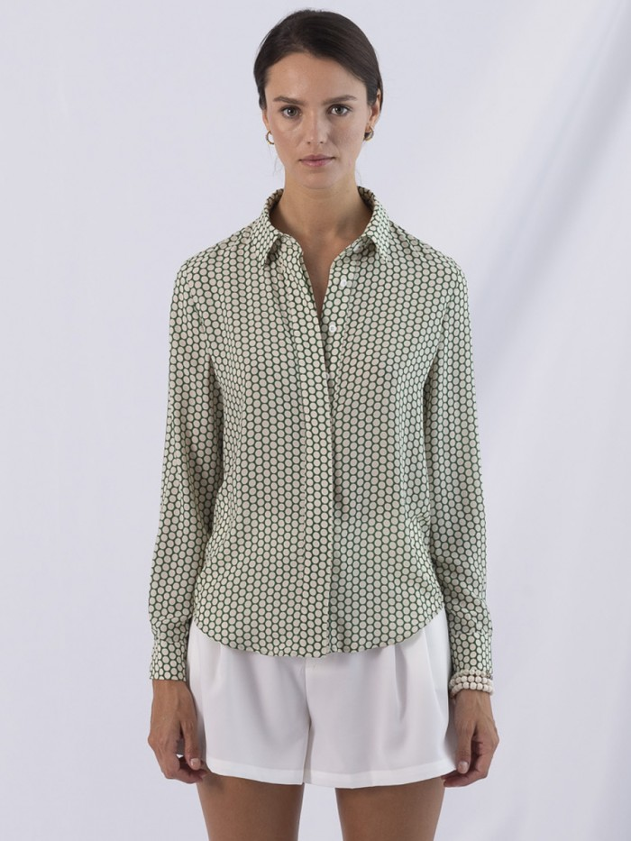 ANONYME- Green Dots Classic Shirt