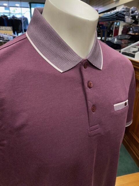 Bugatti | Pocket Short Sleeve Burgundy Polo Shirt