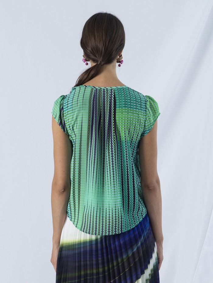 ANONYME | Argyle Green Tilde Top/Blouse