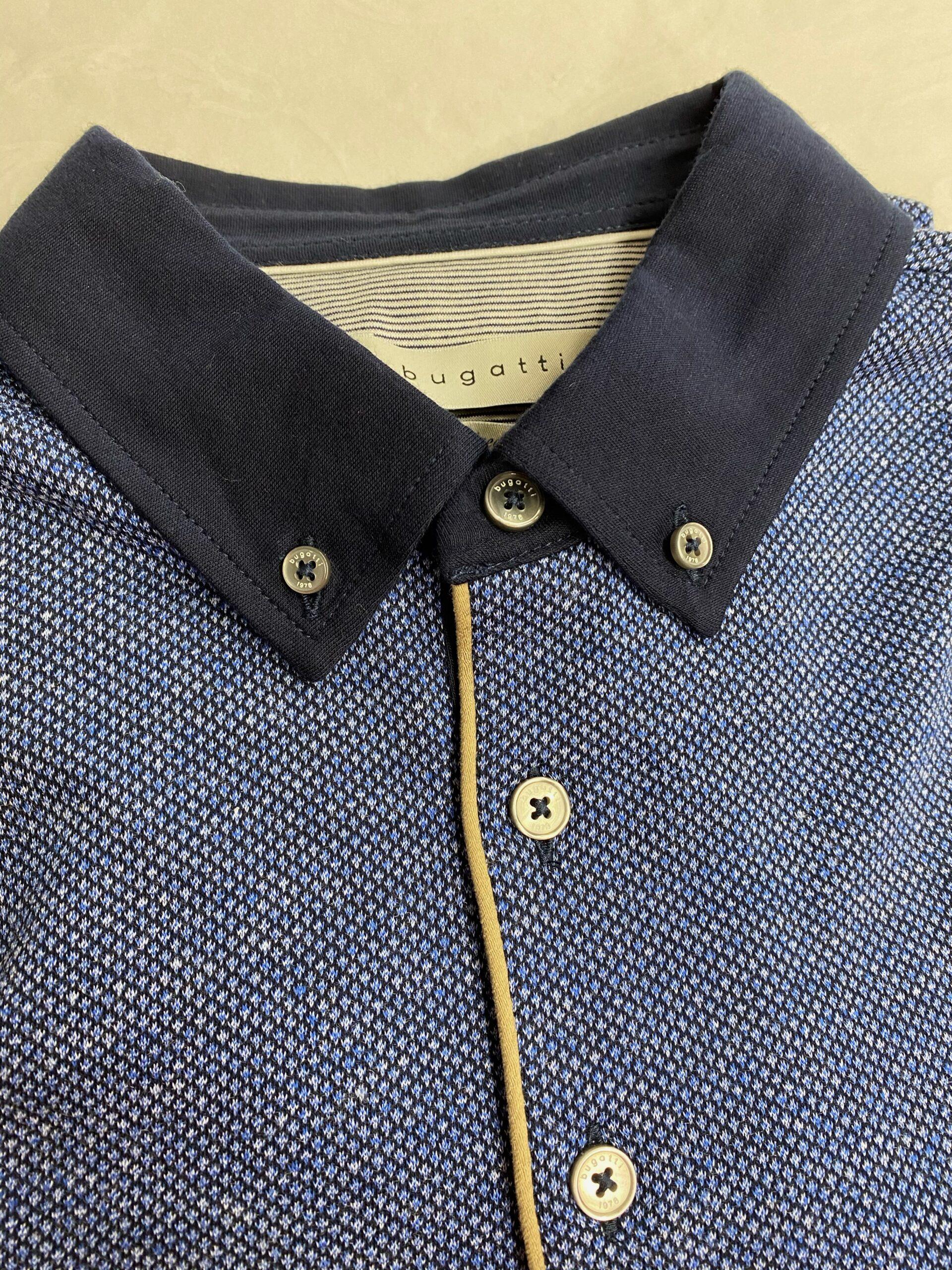 Bugatti| Premium Finish Polo Shirt Blue & Navy