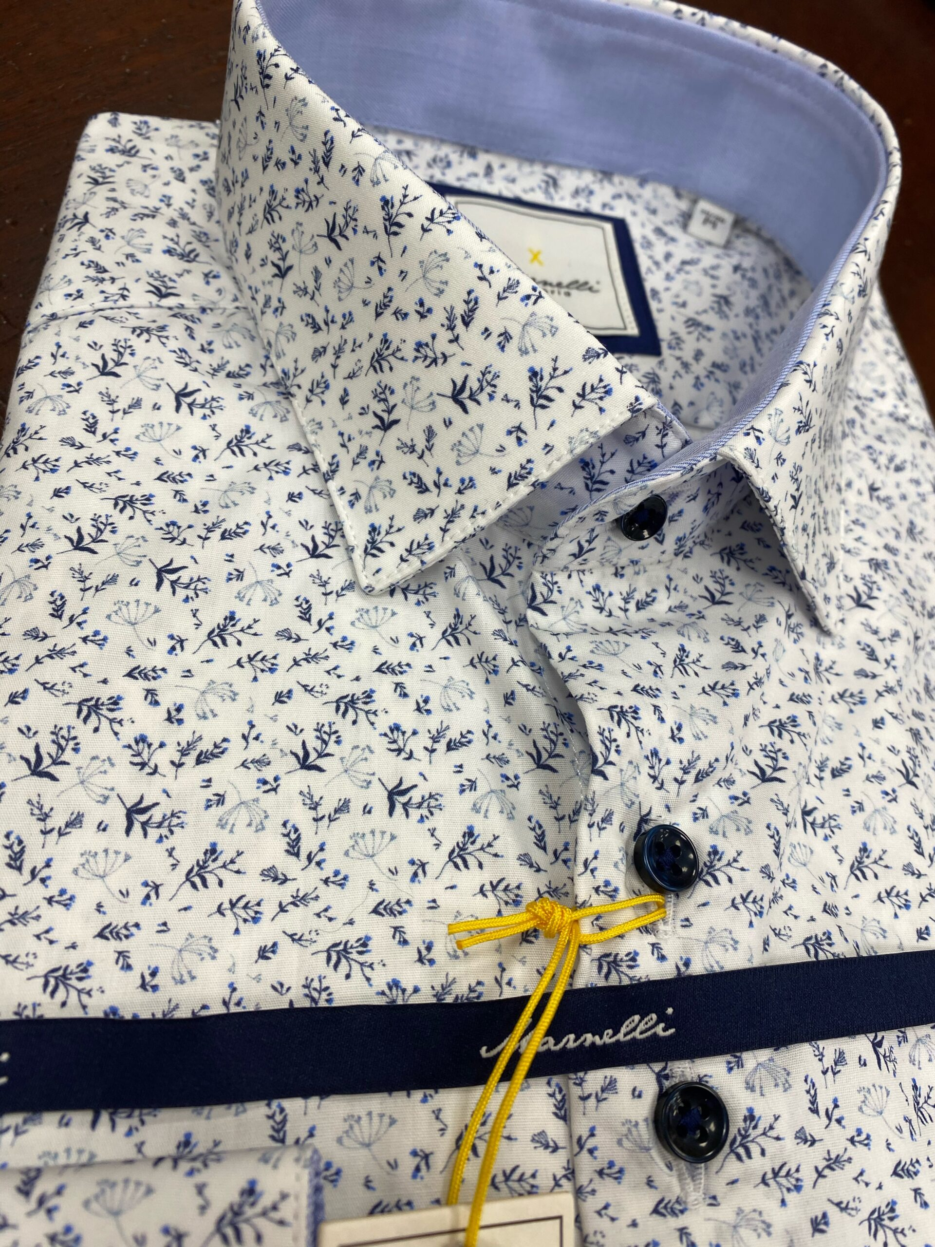 Marnelli | Casual Shirt in White and Blue
