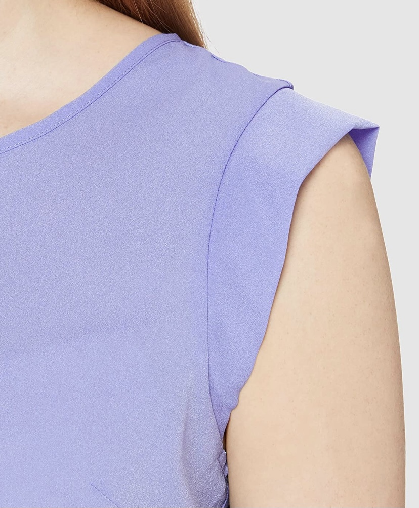 French Connection| CREPE LIGHT SLEEVELESS BAY BLUE TOP