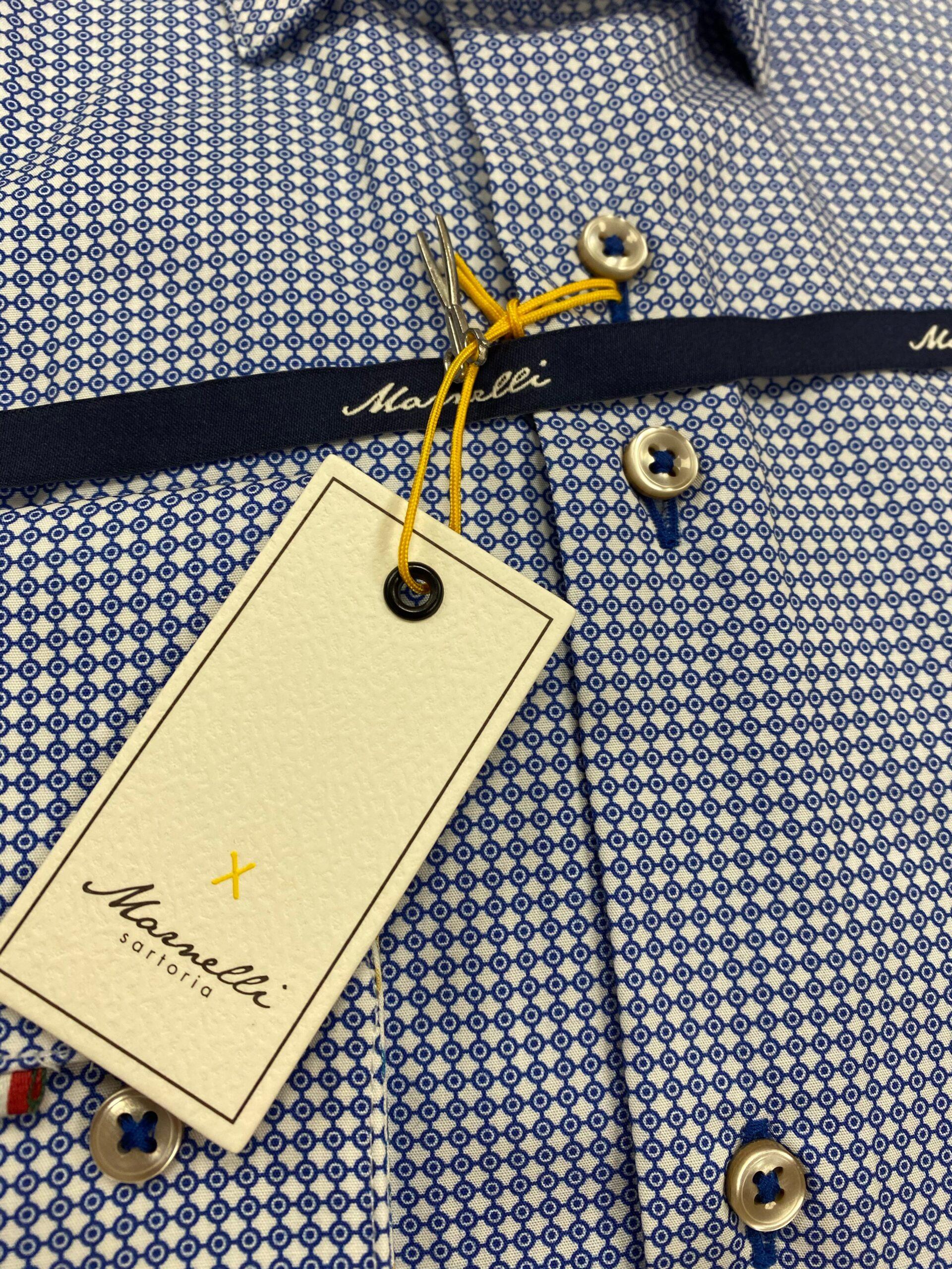Marnelli   Contemporary Shirt Blue Pattern