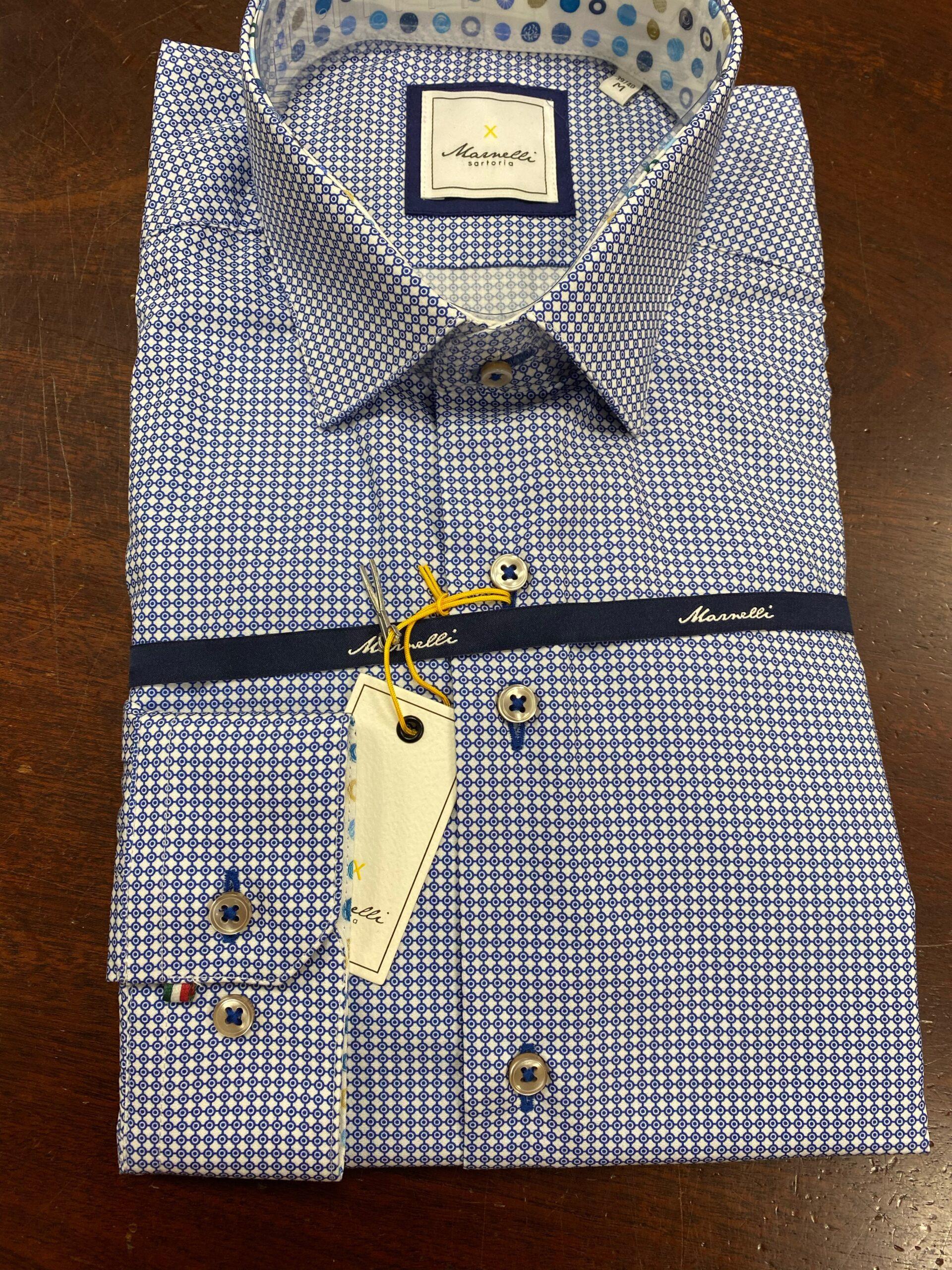 Marnelli | Contemporary Shirt Blue Pattern