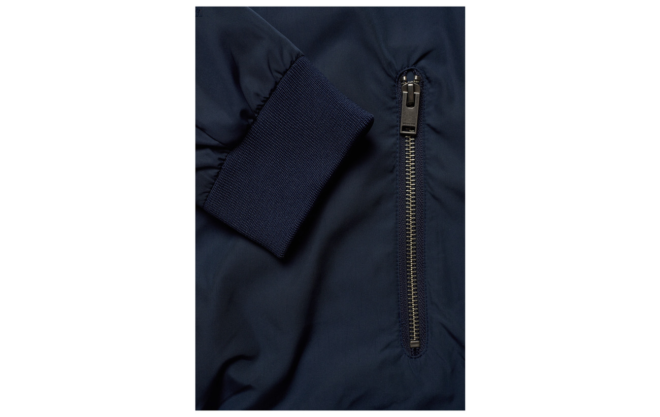 SELECTED| Navy Bomber Style Jacket