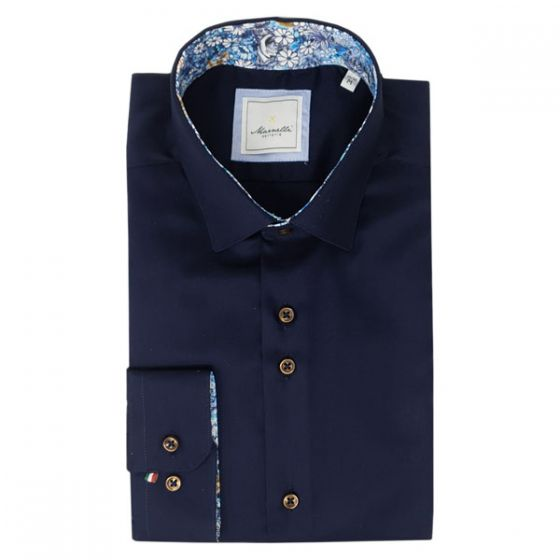 Marnelli | Contemporary Fit Shirt In Navy